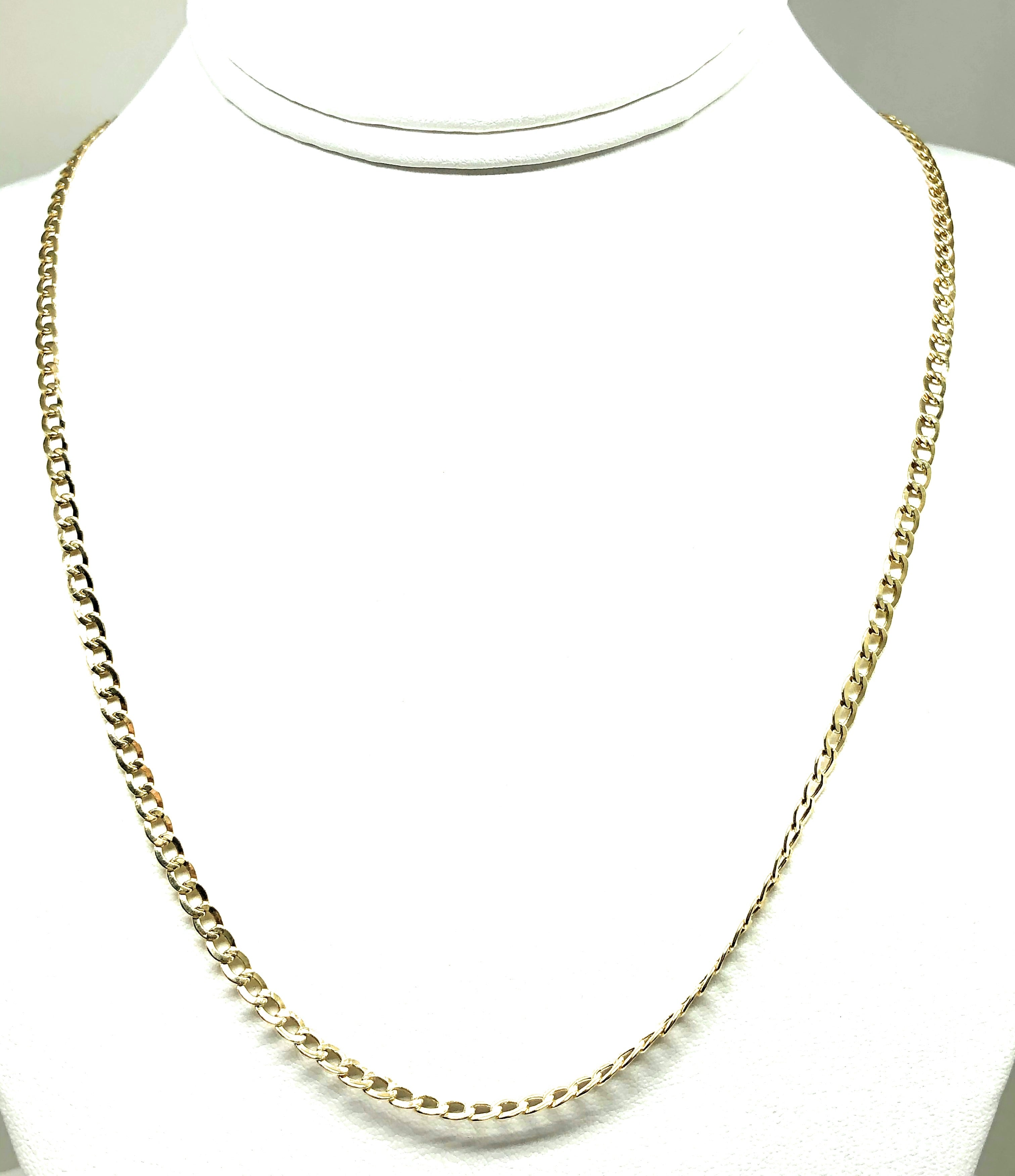 10k Solid Gold Cuban Link Chain 22-24 inches 3.6mm