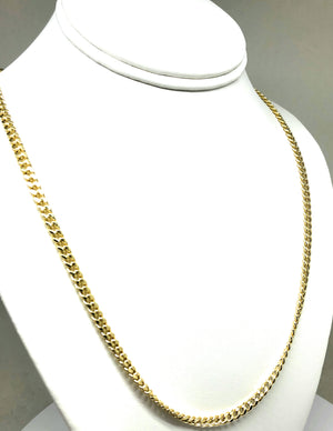 10k Solid Gold Miami Cuban Link Chain 20,30 inches 4.3mm (Semi-Hollow Style)