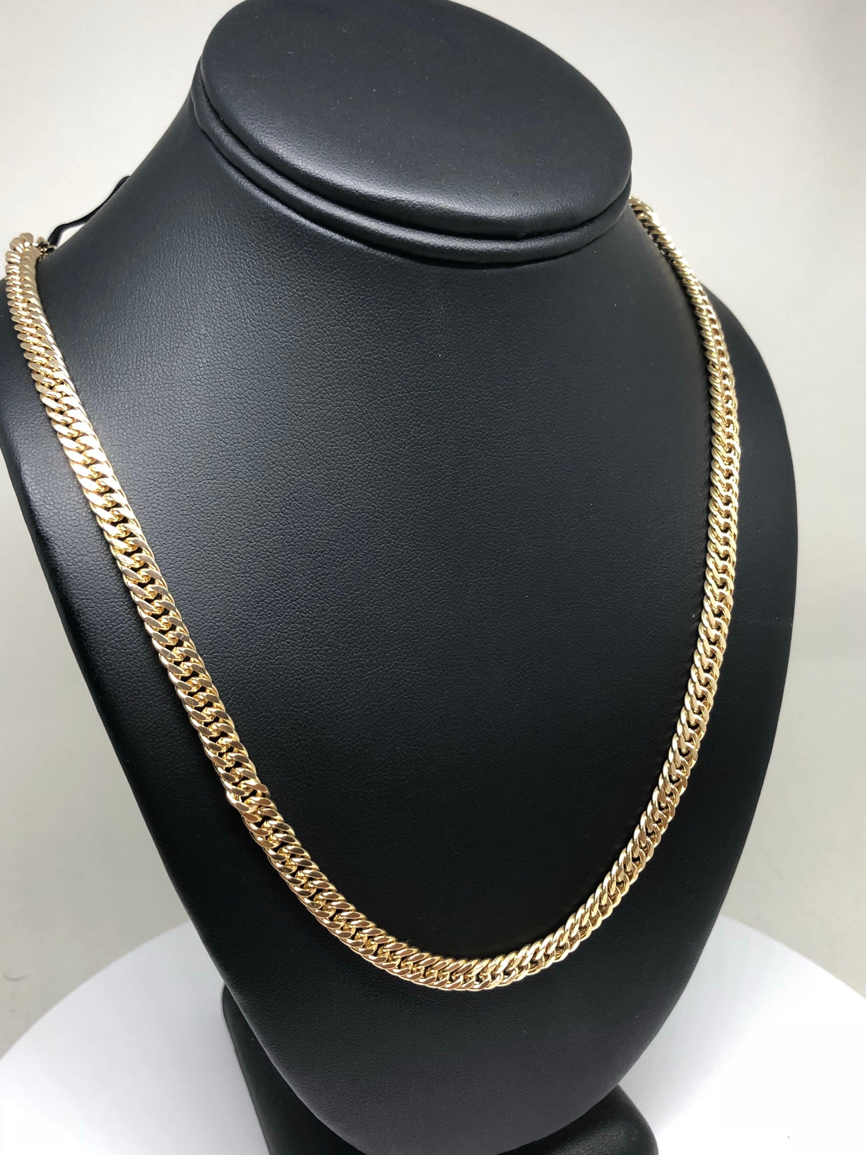 Men's Large Hip Hop 30 Inch Cuban Link Chain Gold Plated 6mm Width - Fran & Co. Jewelry