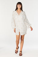 Sakura Shirt Dress - Ivory