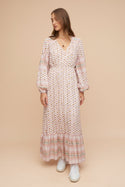 Kazane Midi Dress - Pink