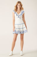 Azid Mini Dress - White