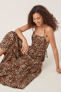 Divya Midi Dress - Leopard