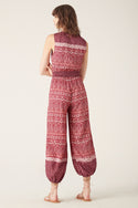 Nivi Jumpsuit - Burgundy