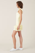 Tippi Short Dress - Lemon
