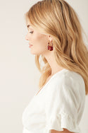 Elina Earring - Red Tort