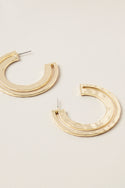 Ruchi Large Hoop Earring - Gold