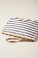 Thea Canvas Clutch - Navy