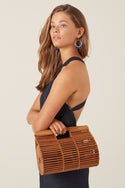 Lani Bamboo Bag - Dark Wood