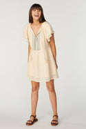 La Camella Tabita Mini Dress - Whisper White