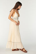 La Camella Adella Maxi Dress - Whisper White