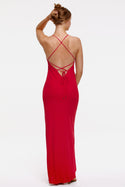 St Lucia Liana Maxi Slip Dress - Chilli