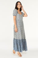 Vergara Alsina Tie Back Maxi Dress - Bijou Blue