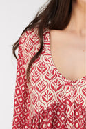 Vergara Cameron Button Up Tunic - Chilli