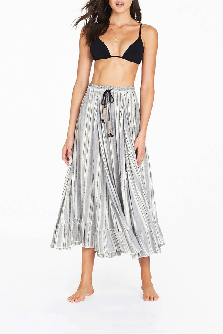 Alanzo Midi Skirt - Charcoal