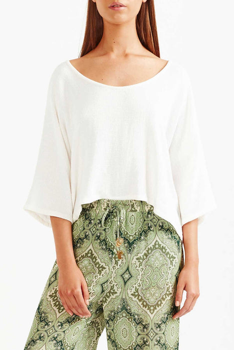 Tigerlily Delin T-Shirt - White | Shop Now
