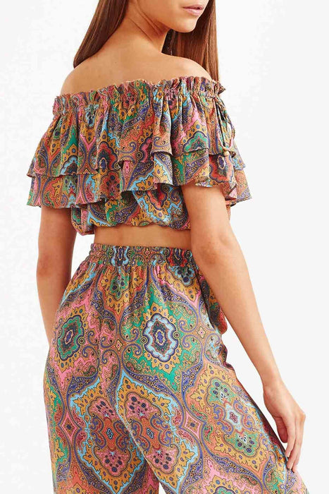 Delon Frill Top - Multi