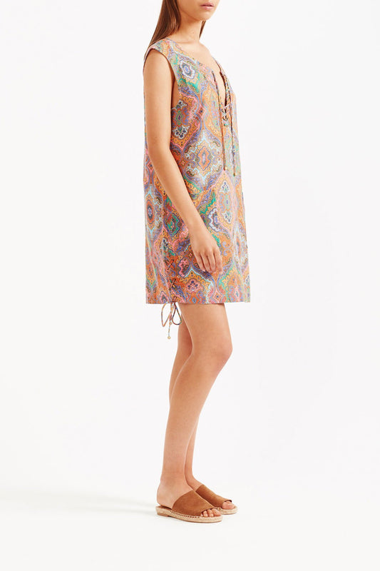 Delon Shift Mini Dress - Multi