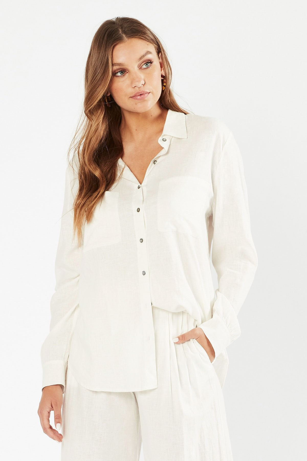 Tigerlily Womens Hana Shirt - White