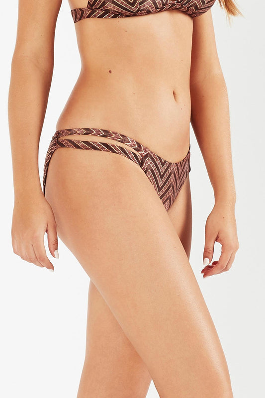 Imane High Tiger Mid-Coverage Bikini Pant - Zig Zag