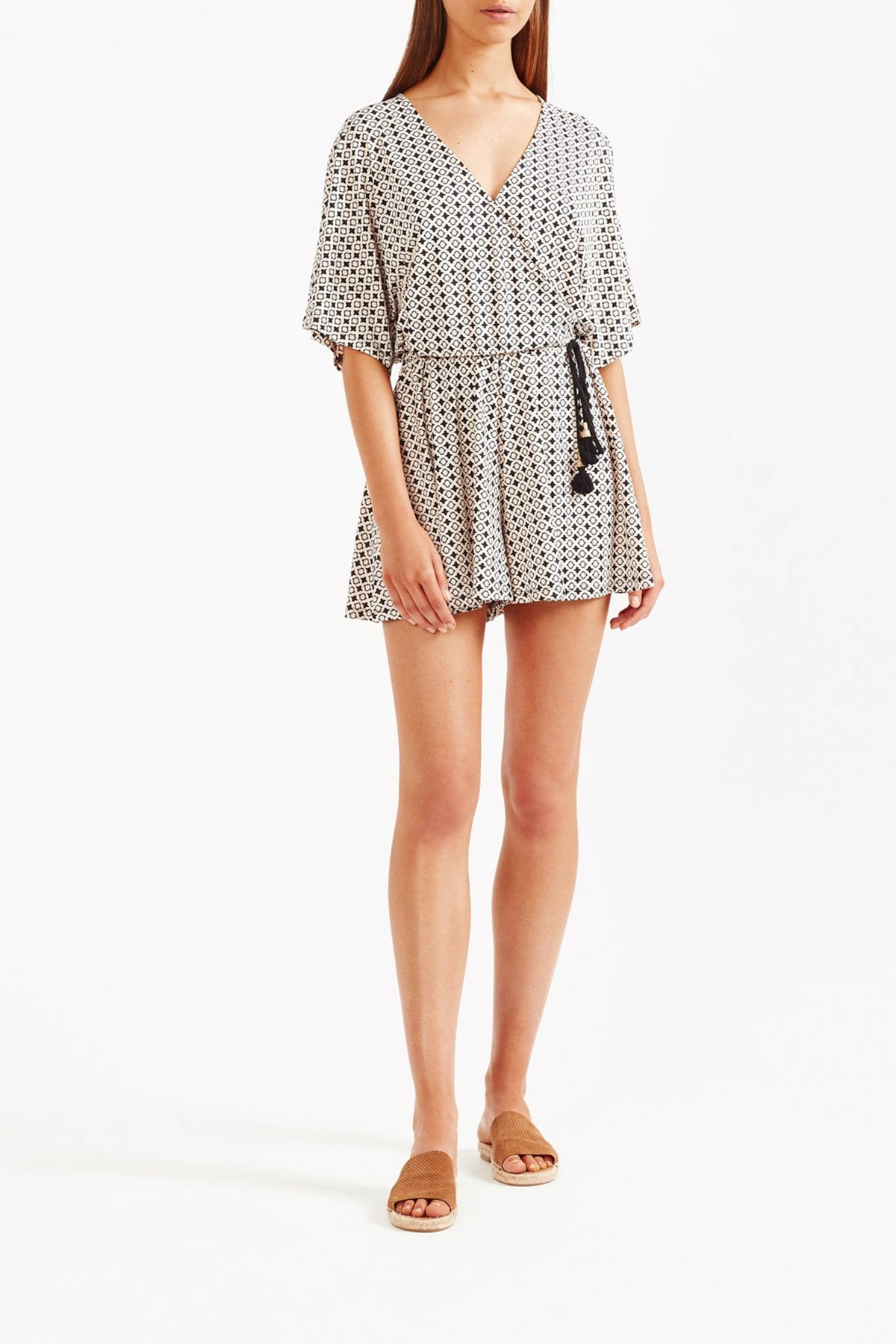 Tigerlily Karezi Playsuit - Bone