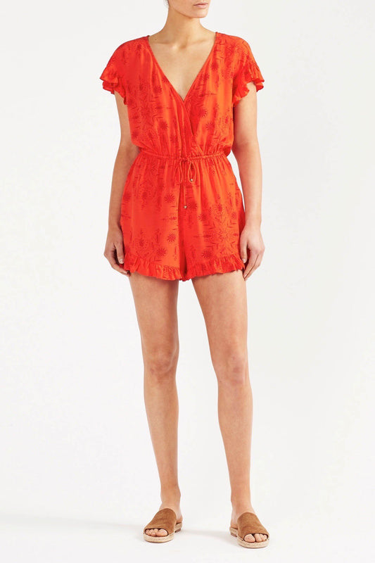 Tigerlily Nikita Playsuit - Orange
