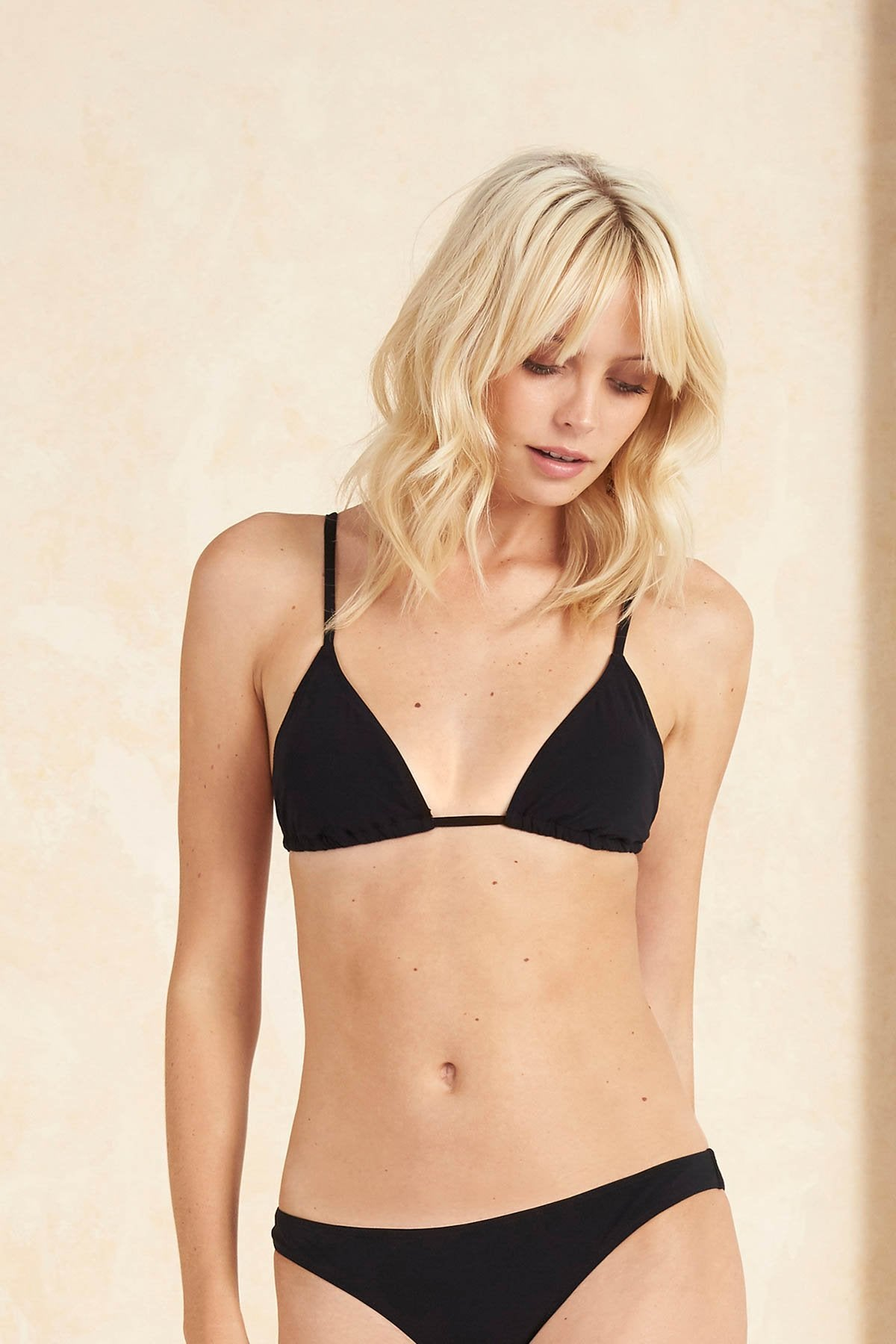 Tigerlily Oui Tara Triangle Bikini Top - Black