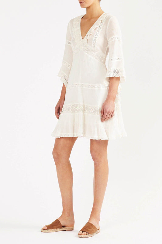 Zoayla Mini Dress - Vintage Ivory