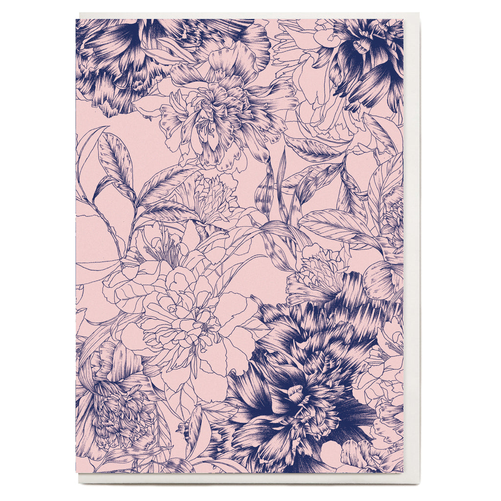 Pencil Floral Greeting Card