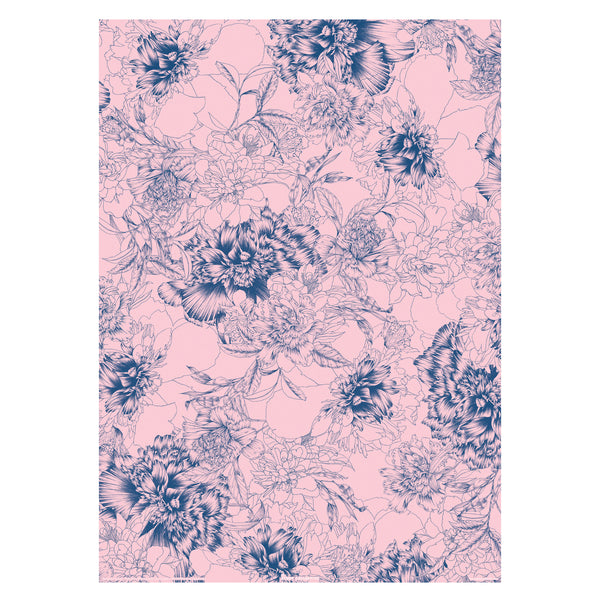 Pencil Floral Gift Wrap Sheet