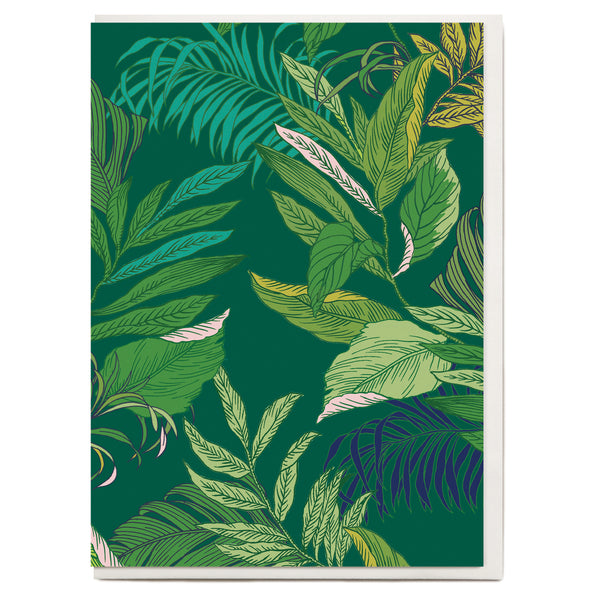 Tropical Leaf Greeting Card