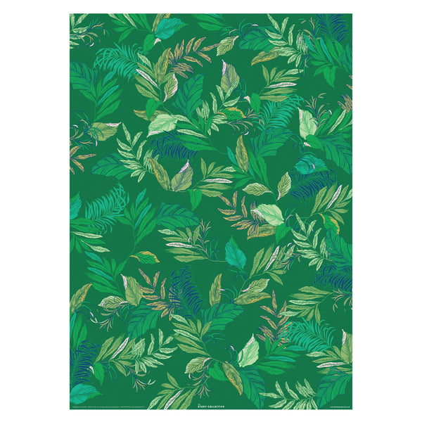 Tropical Leaf Gift Wrap Sheet
