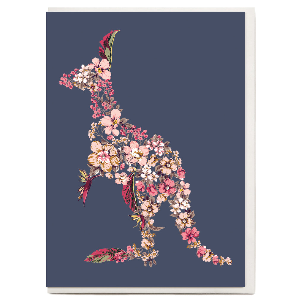 Kangaroo Greeting Card