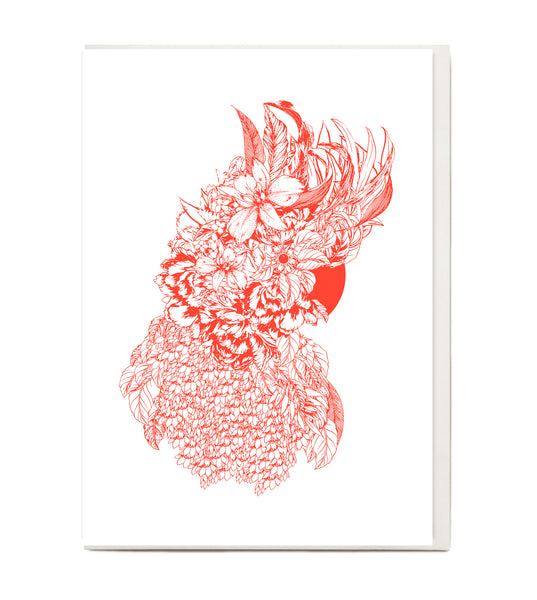 New! Fluro Galah Greeting Card