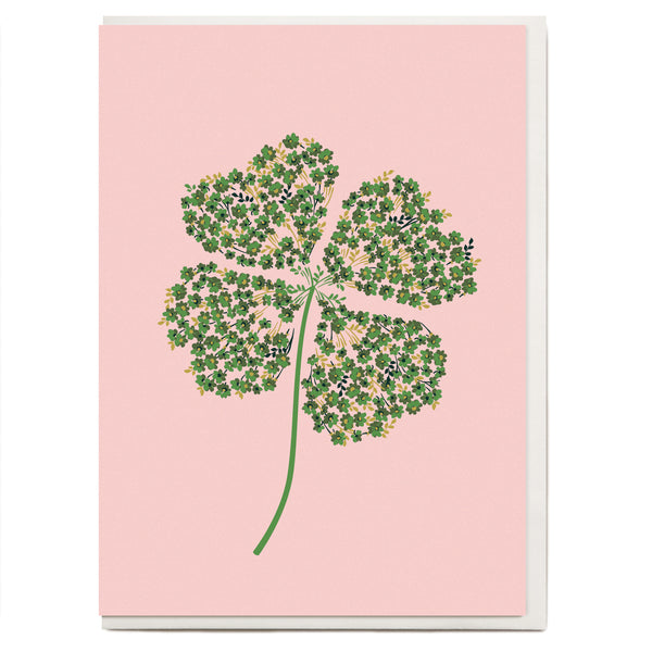 Four Leaf Clover Greeting Card