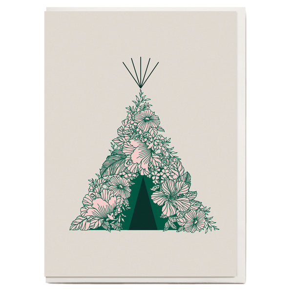 Tee Pee Greeting Card