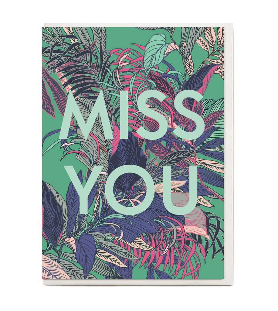 New! Miss You Greeting Card