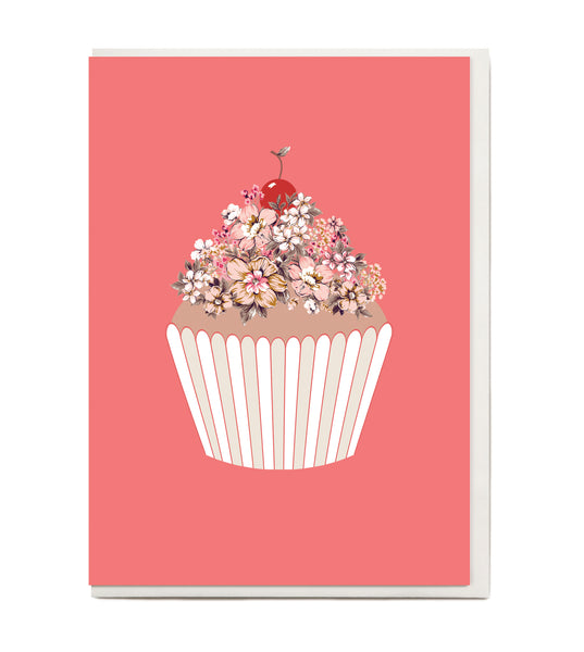 New! Cup Cake Greeting Card