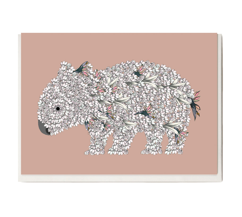 New! Wombat Greeting Card