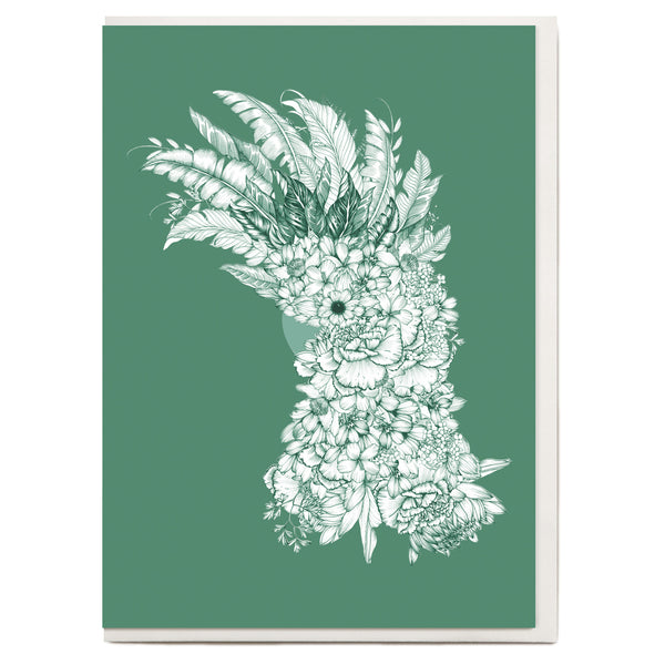 Drawn Cockatoo Greeting Card