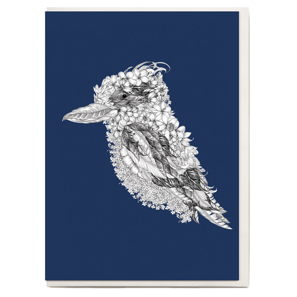 Drawn Kookaburra Greeting Card