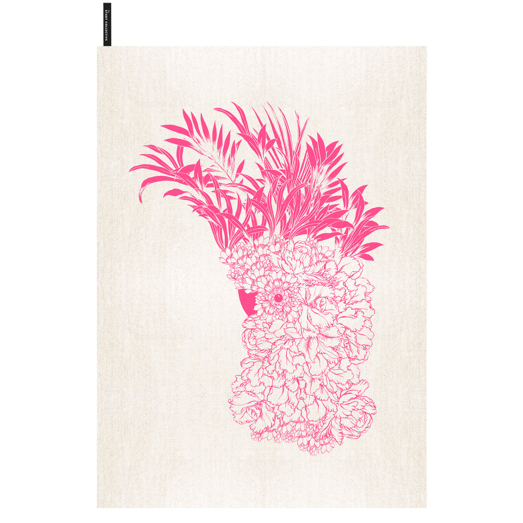 Major Mitchell Tea Towel Pink