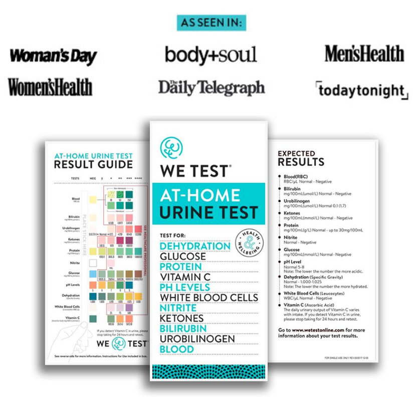 WE TEST: AT-HOME URINE TEST FOR HEALTH & WELLBEING