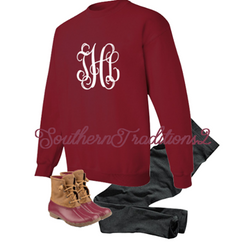 Monogram Fleece Pullover - Ladies monogram tunic