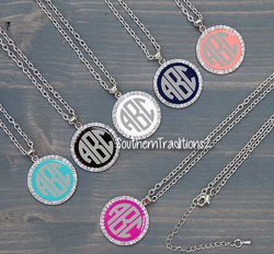 Monogram Necklace Pendant - Bridesmaid Monogram Necklace