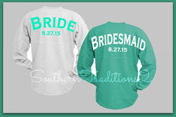 Bridesmaid Spirit Shirts - Bridesmaid Jersey Gift