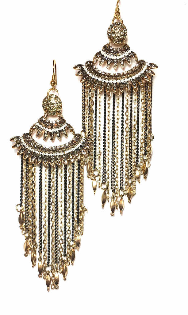 Esther Tassel Bling Earrings