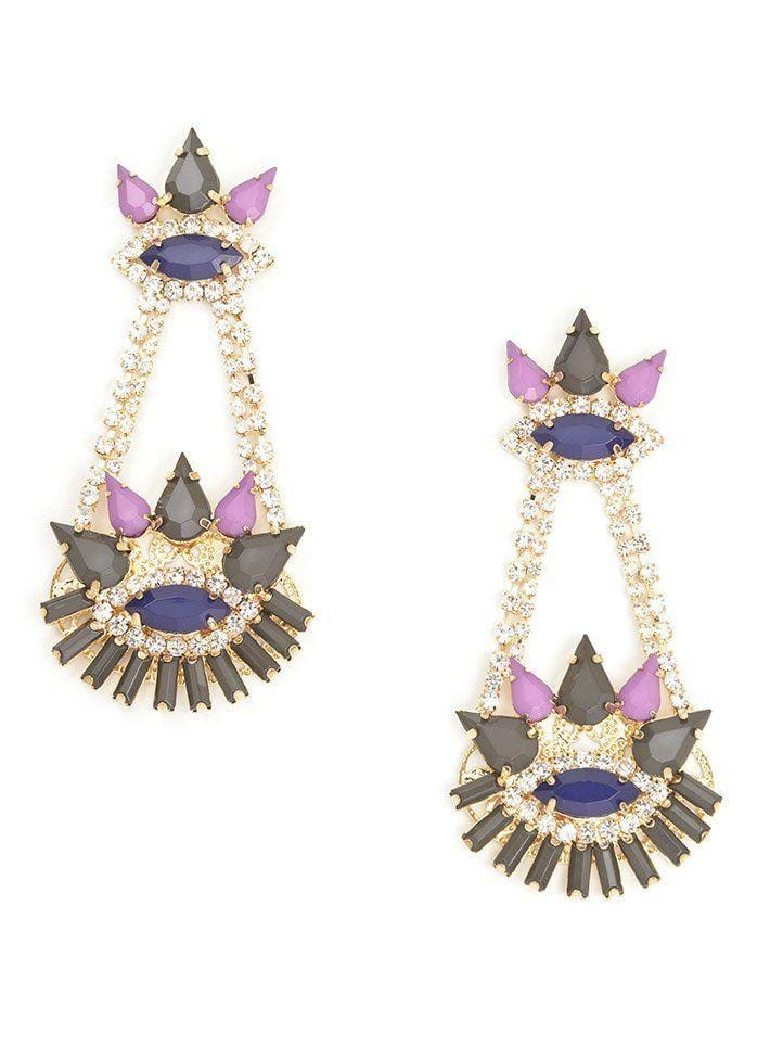 Jeweled Spike Earrings