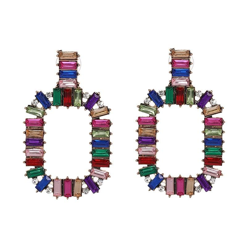 Rectangle Multi Earrings