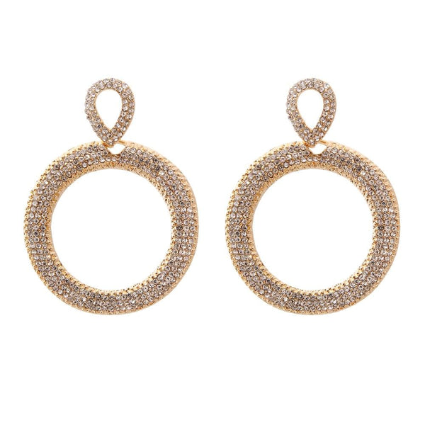 Circle Bling Earrings